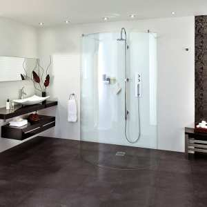 Aqata Spectra SP395 Double Entry Curved Walk In Shower Panel 1294