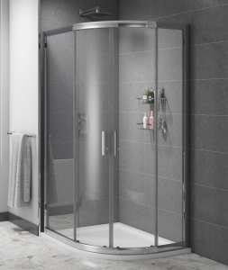 Cassellie Cass Six Easy Clean Offset Quadrant Shower Enclosure 6mm Glass