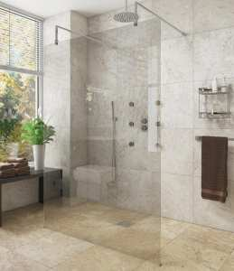 Cassellie Marna 8mm Wet Room Glass Panel ONLY