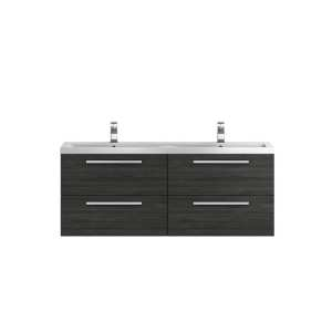 Hudson Reed Quartet Hacienda Black 1440mm Double Cabinet and Basin QUA003