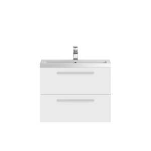 Hudson Reed Quartet White Gloss 720mm Cabinet and Basin QUA005