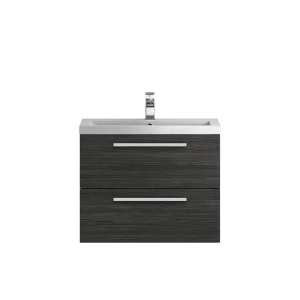 Hudson Reed Quartet Hacienda Black 720mm Cabinet and Basin QUA007