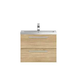 Hudson Reed Quartet Natural Oak 720mm Cabinet and Basin QUA008