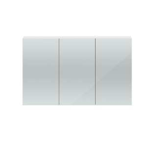 Hudson Reed Quartet White Gloss 1350mm Mirror Cabinet QUA009