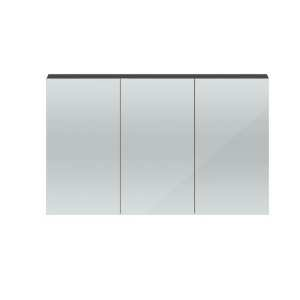 Hudson Reed Quartet Grey Gloss 1350mm Mirror Cabinet QUA010