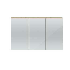 Hudson Reed Quartet Natural Oak 1350mm Mirror Cabinet QUA012
