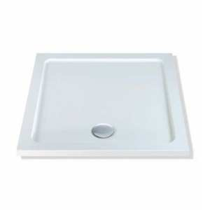 MX Durastone Square Flat Top Lightweight Shower Tray 760 x 760mm