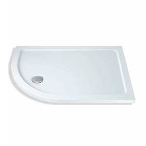 MX Durastone Offset Quadrant Flat Top Lightweight Shower Tray 900 x 760mm Left Handed