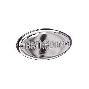 Miller Classic Bathroom Sign Chrome 723C