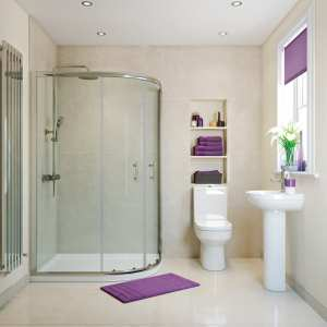 Moods RefleXion Basix 1000 x 800 2 Door Offset Quadrant Shower DIEO1016