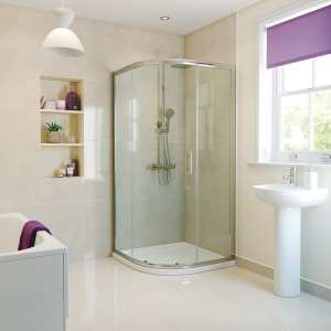 Moods RefleXion Basix 900 1 Door Sliding Quadrant Shower DIEQ9024