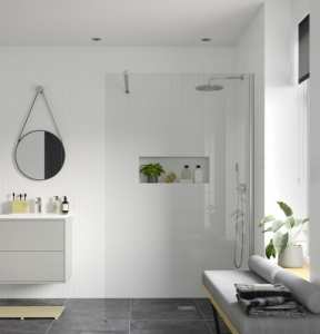 Moods Reflexion 8 500mm Wetroom Panel And Support Bar DIEWP5010