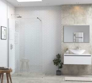 Moods Reflexion 6 1000mm Wetroom Panel And Support Bar DIEWP1040