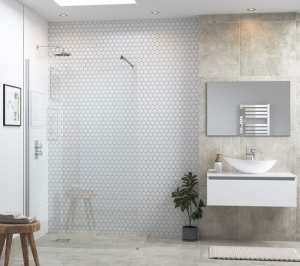 Moods Reflexion 6 1200mm Wetroom Panel And Support Bar DIEWP1224