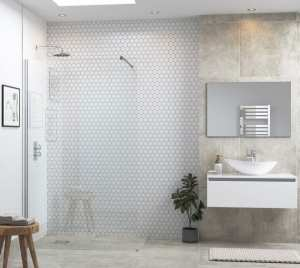 Moods Reflexion 6 500mm Wetroom Panel And Support Bar DIEWP5014