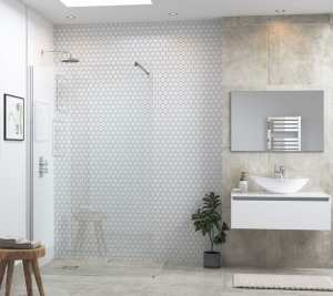 Moods Reflexion 6 900mm Wetroom Panel And Support Bar DIEWP9026