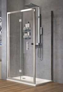 Novellini Zephyros S Bifold Shower Door 800 Black Finish ZEPHYRS76 1H