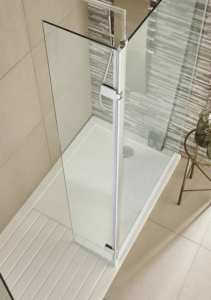 Nuie Wetroom Hinged Screen 300x1850mm WRS030H