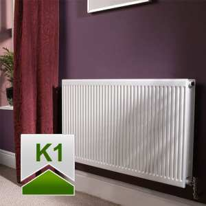 Quinn Roundtop Radiator 300mm High x 600mm Wide (Single Convector)