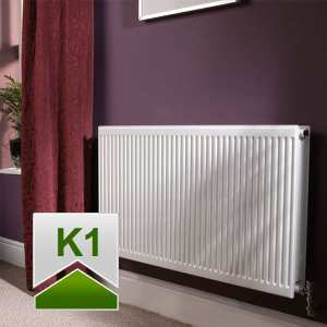 Quinn Roundtop Radiator 300mm High x 1000mm Wide (Single Convector)