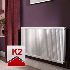 Quinn Roundtop Radiator 300mm High x 600mm Wide (Double Convector)
