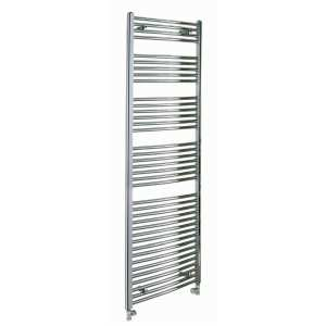 Reina Diva Central Heating Polished Chrome Flat Ladder Towel Rail 1800mm High x 750mm Wide