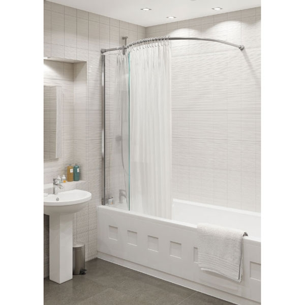 Kudos Inspire Over Bath Shower Panel With Shower Curtain