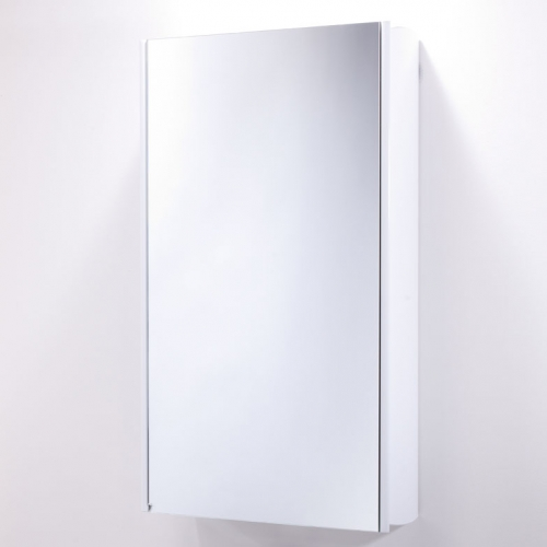 Roper Rhodes Limit Slimline Single Glass Door White Bathroom Mirror