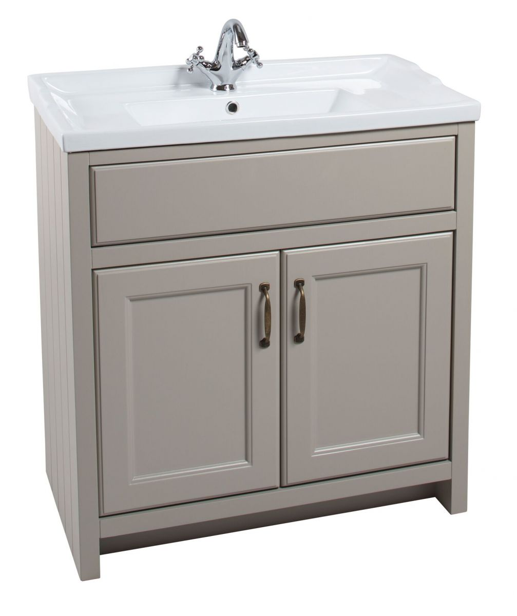 Cassellie Chartwell Mocha Traditional 2 Door Vanity Unit 810mm CHART02-M-810-BAS