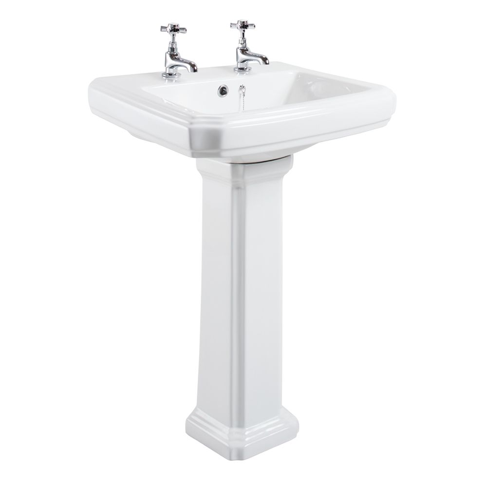 Cassellie Cromford 2 Tap Hole Basin and Pedastal CRMK003