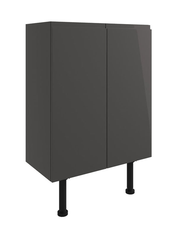 Moods Valesso Onyx Gloss Grey 600mm Floor Standing Base Unit DIFT1526