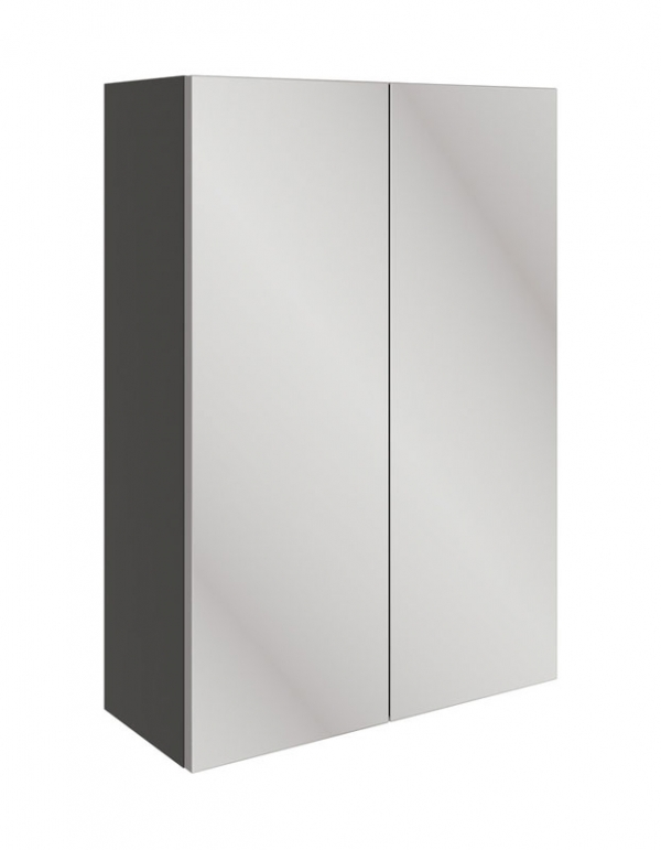 Moods Valesso Onyx Grey Gloss 500mm Mirrored Unit DIFT1574