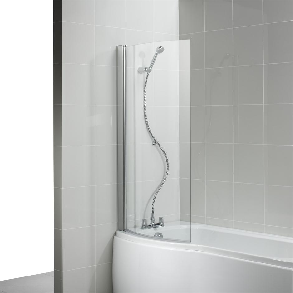 Ideal Standard Alto Curved Bath Shower Screen Clear Glass