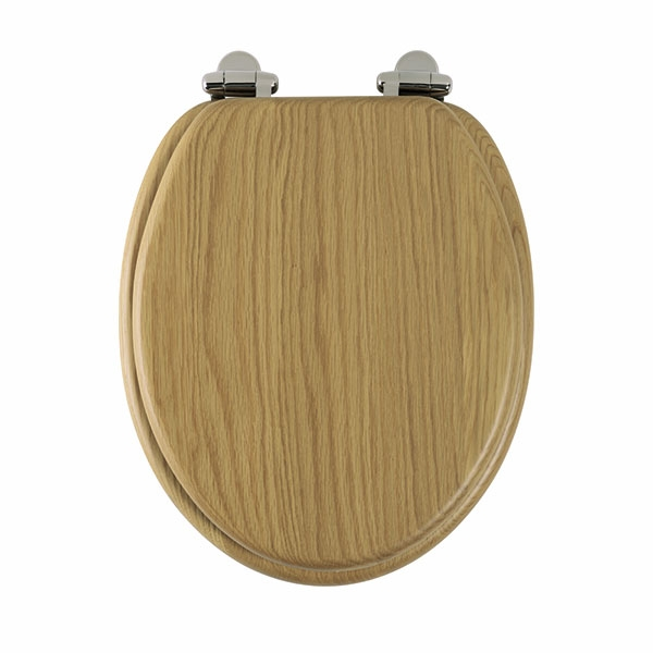 Roper Rhodes Traditional Solid Wood Toilet Seat Oak Soft Close 8081NOSC