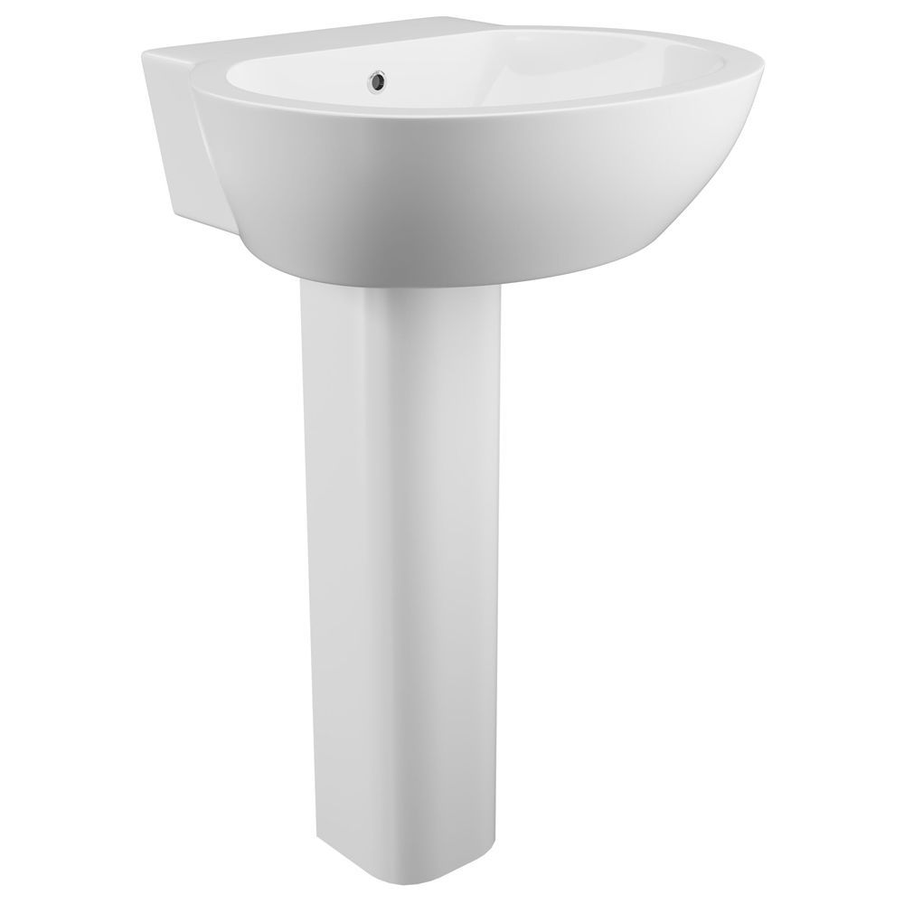 Cassellie Wharfe 1 Tap Hole Basin with Full Pedestal WHA003