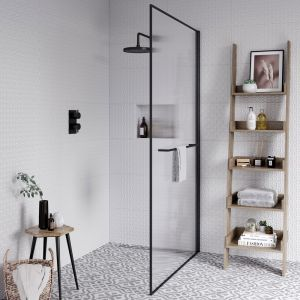 Aqata Design Solutions DS402 1200 Reeded Glass Wetroom Shower Screen