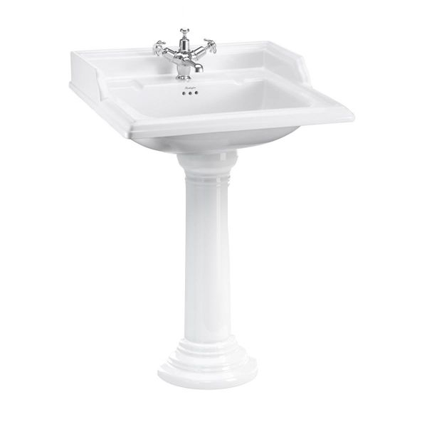 Burlington Classic 650mm Square Basin and Round Pedestal B15