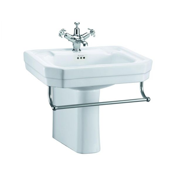 Burlington Victorian 610mm Rectangular Basin and Semi Pedestal B3