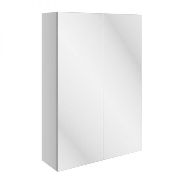 Moods Valesso Gloss White 500mm Slim Mirrored Wall Unit DIFT1584