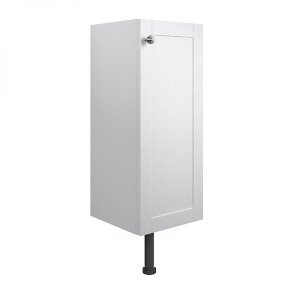 Moods Benita 300 Satin White Ash 1 Door Floor Standing Base Unit DIFT1692