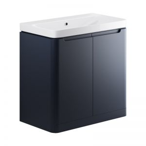Moods Lambra 800 Matt Indigo Floor Standing Vanity Unit  and Ceramic Basin DIFTP1816