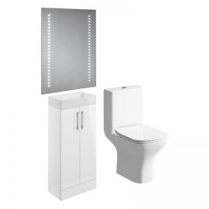 Moods Volta White Cloakroom Bathroom Suite