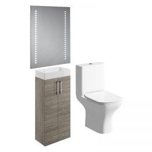 Moods Volta Grey Nordic Wood Cloakroom Bathroom Suite