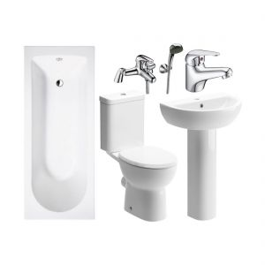 Moods Tuscany Complete Bathroom Suite with Bath Filler