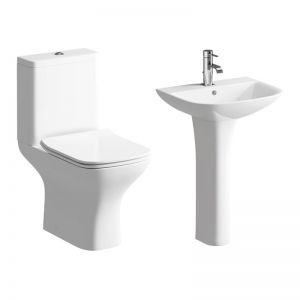 Moods Cedarwood 4 Piece Pedestal Basin and Toilet Suite