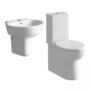 Moods Tarragon 4 Piece Semi Pedestal Basin and Toilet Suite