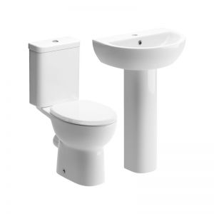 Moods Tuscany 4 Piece Pedestal Basin and Toilet Suite
