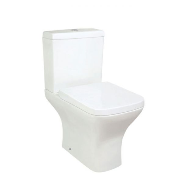 Hartland Novara Close Coupled Short Projection Toilet with Cistern and Seat