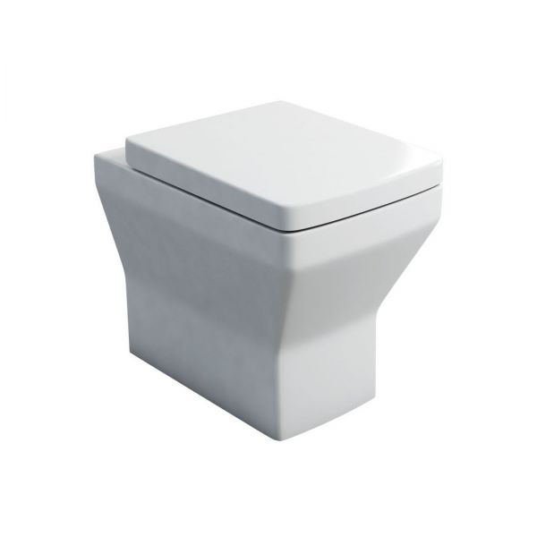 Britton Cube Back To Wall Pan Inc Soft Close Seat 201952 SS1025