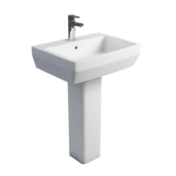 Britton Cube 600mm 1 Tap Hole Basin 201955